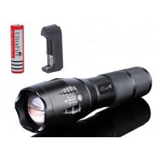 UltraFire XML-T6 1000L LED Torch +  Lithium Ion Battery + Charger