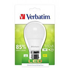 Verbatim 52612 B22 9W Warm White LED Light Bulb